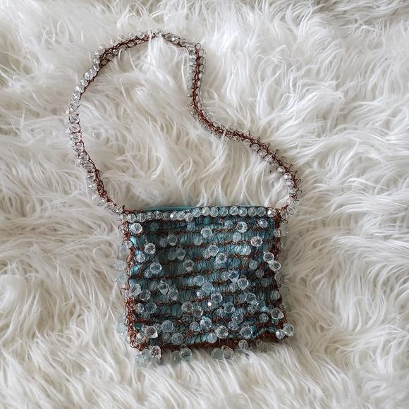 Cappelli Handbags - Turquoise beaded purse